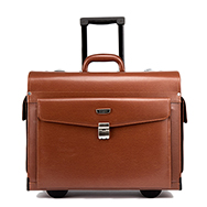 Vali Pilot cao cấp Luxury Case Leather-Real Tan Brown TM118