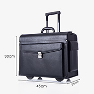 Vali da cao cấp phi công Pilot Flight Case Leather-Real TM119